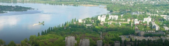 Kremenchuk is located at the center of Ukraine and divided by one of the largest rivers of Europe - Dnieper