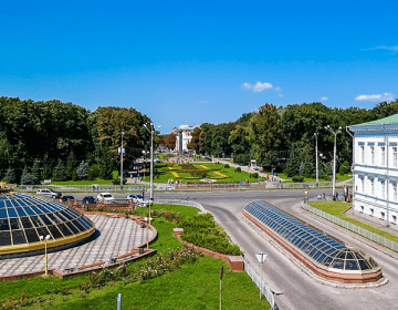 The downtown of Poltava is the oldest and most beautiful part of town